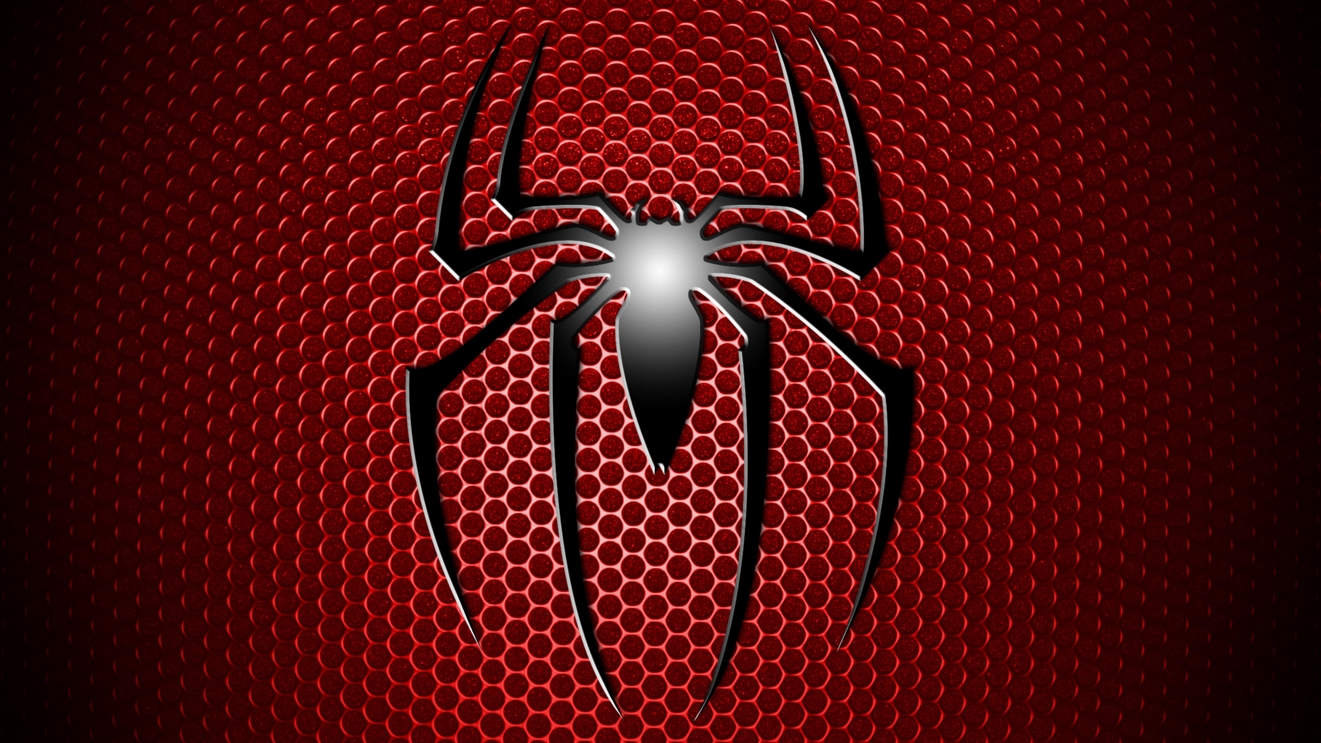 Spiderman Logo Wallpaper Download 5120x2880