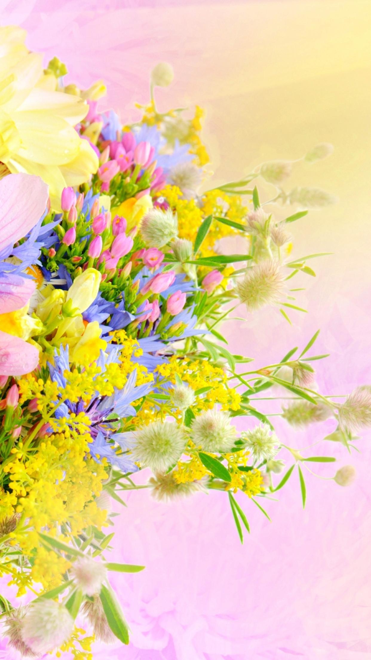 Spring flower perfume wonderful bouquet wallpaper download 1242x2208 mightylinksfo