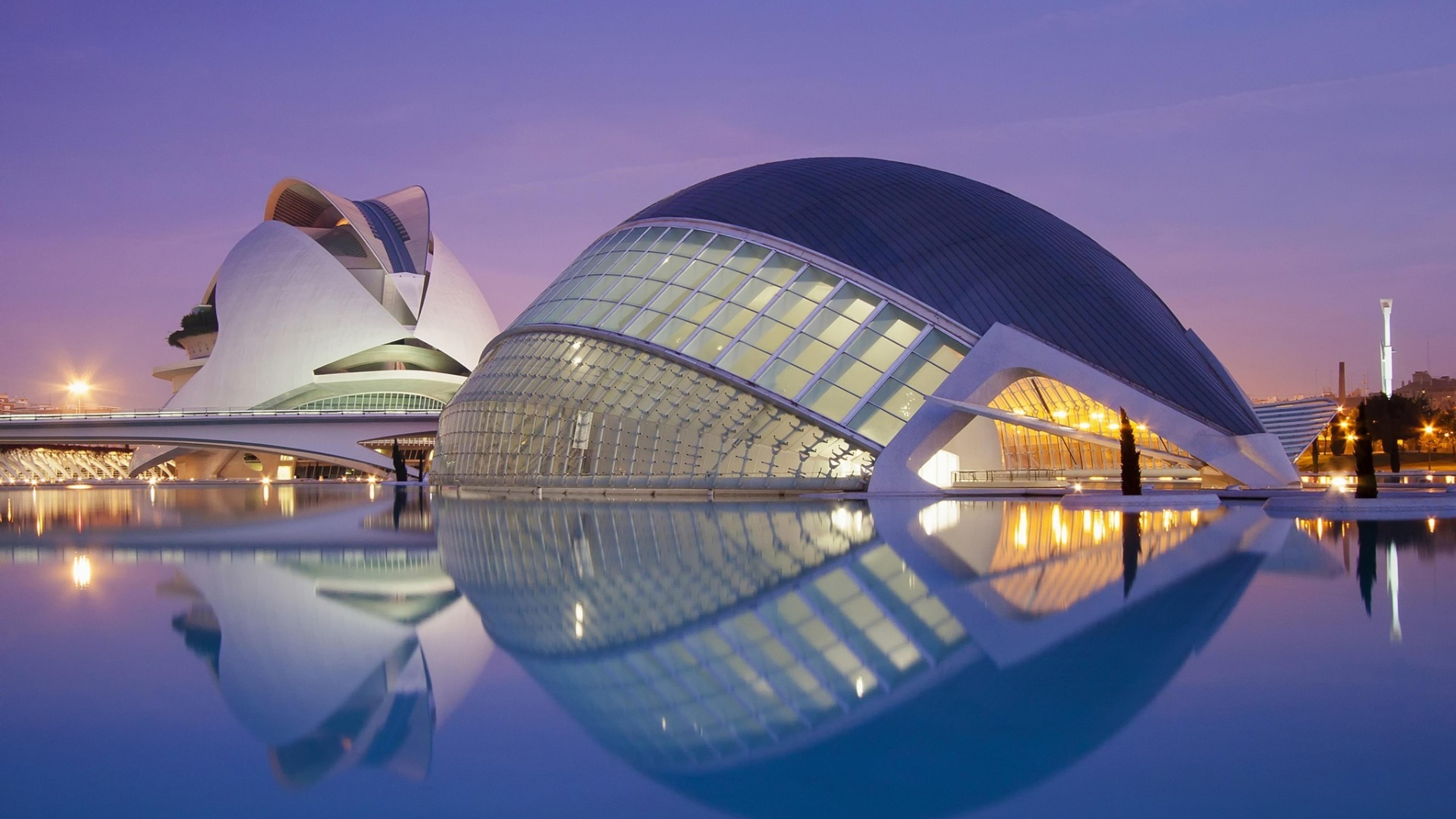 Submarino Valencia City Spain Under Purple Sky Wallpaper