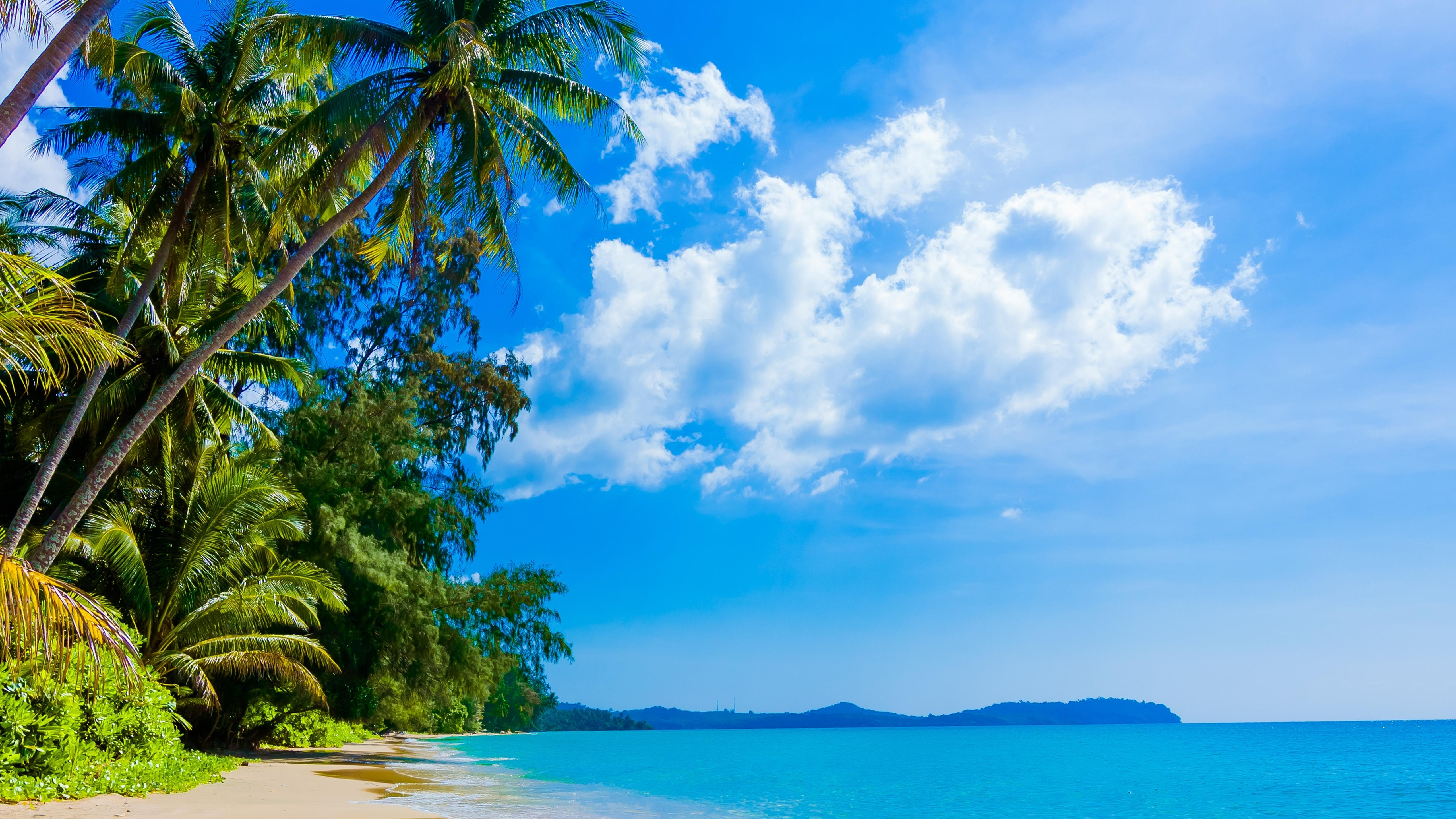 Sunny day on the beach hd wallpaper download 5120x2880 - Sunny day wallpaper ...