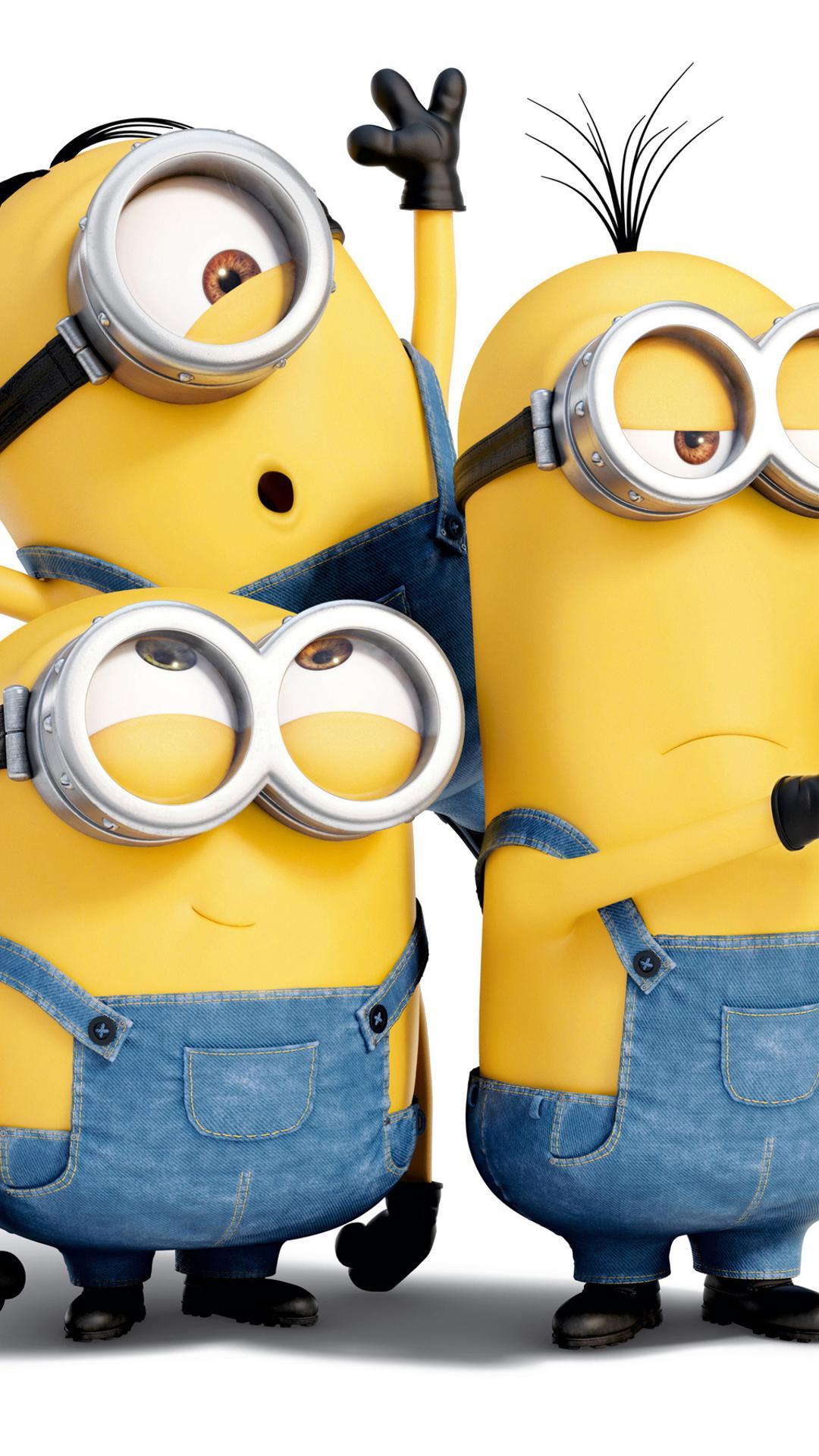 Three crazy minions make a selfie - Funny cartoon ...
