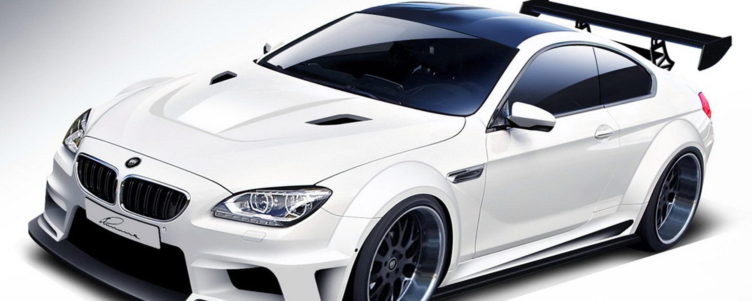 Tuning BMW M6 - White sport car Wallpaper Download 2560x1024