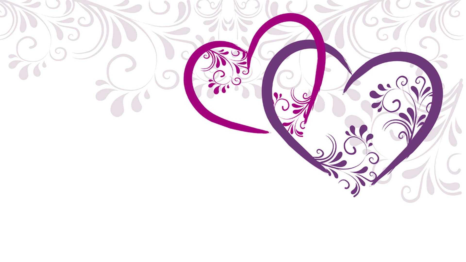 Two Hearts In A Vector And Design Wallpaper