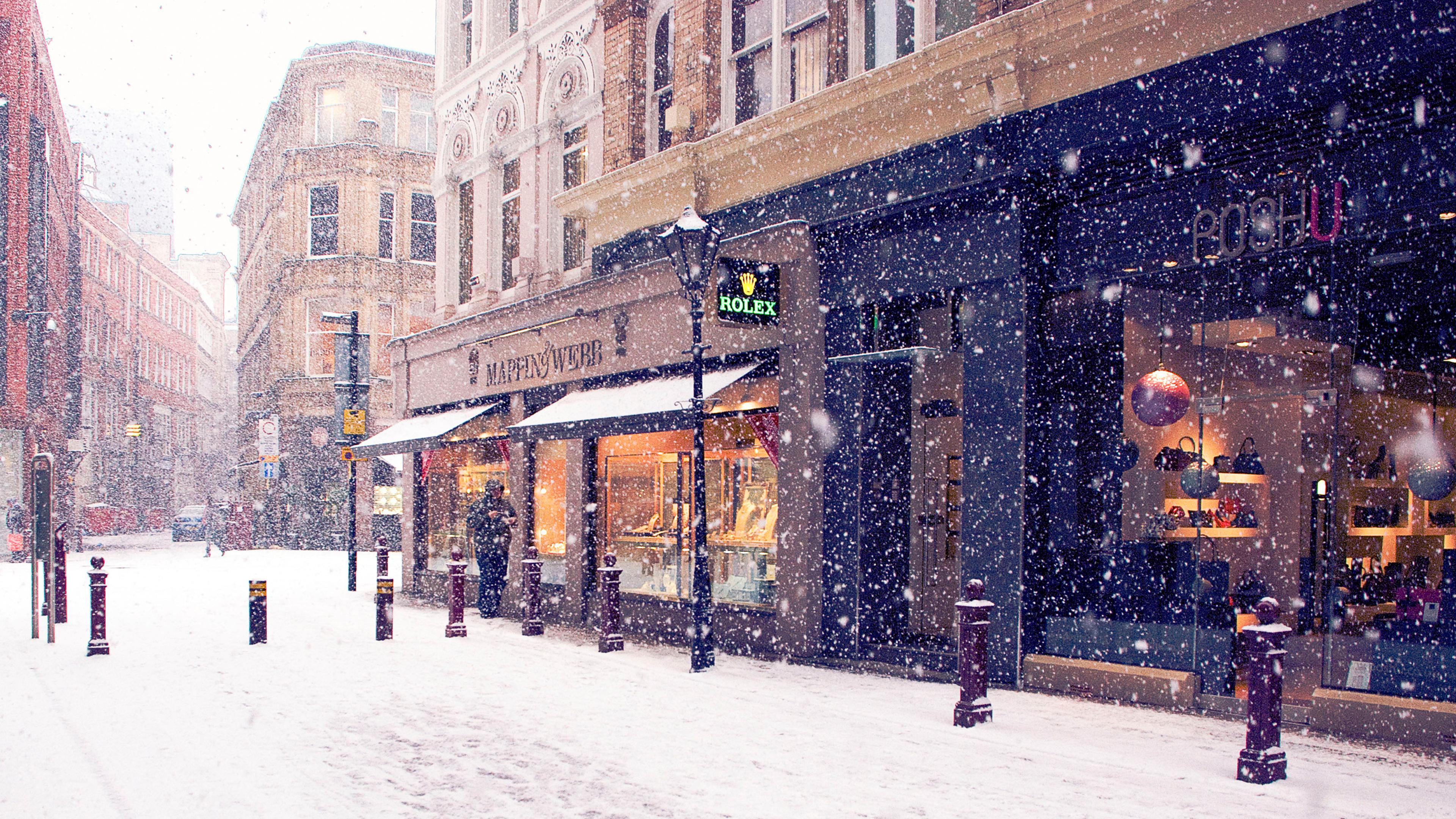Фото зима город на рабочий стол