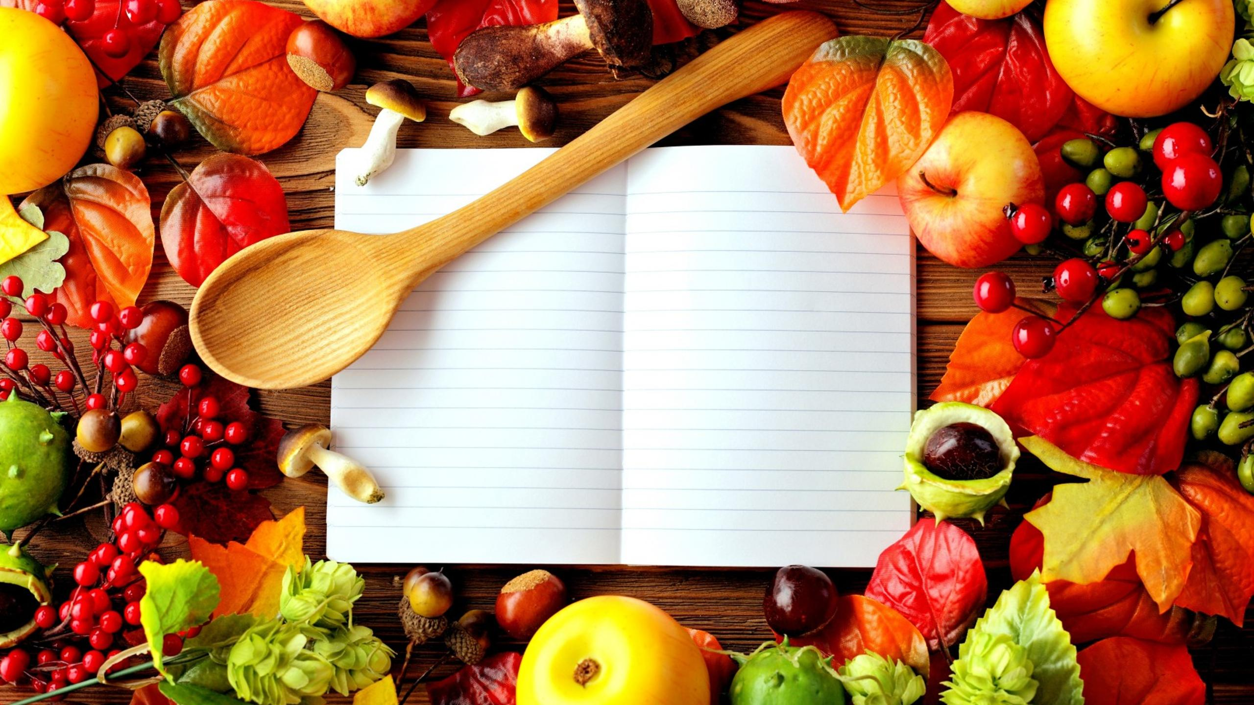 Your Secret Book With Food Recipes Wallpaper Download 2560x1440