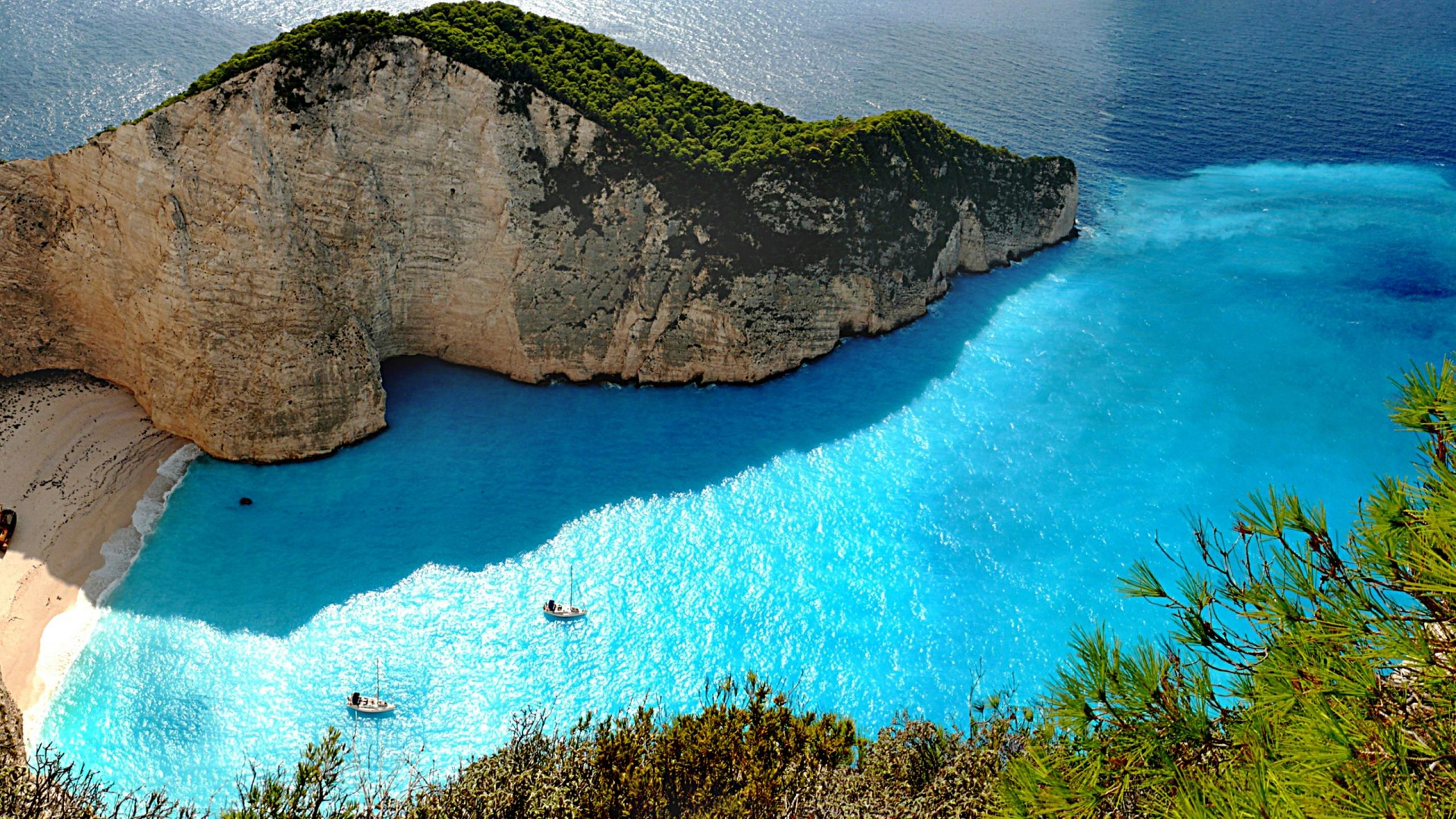 Zakynthos Island Relaxing Beach And A Superb Landscape