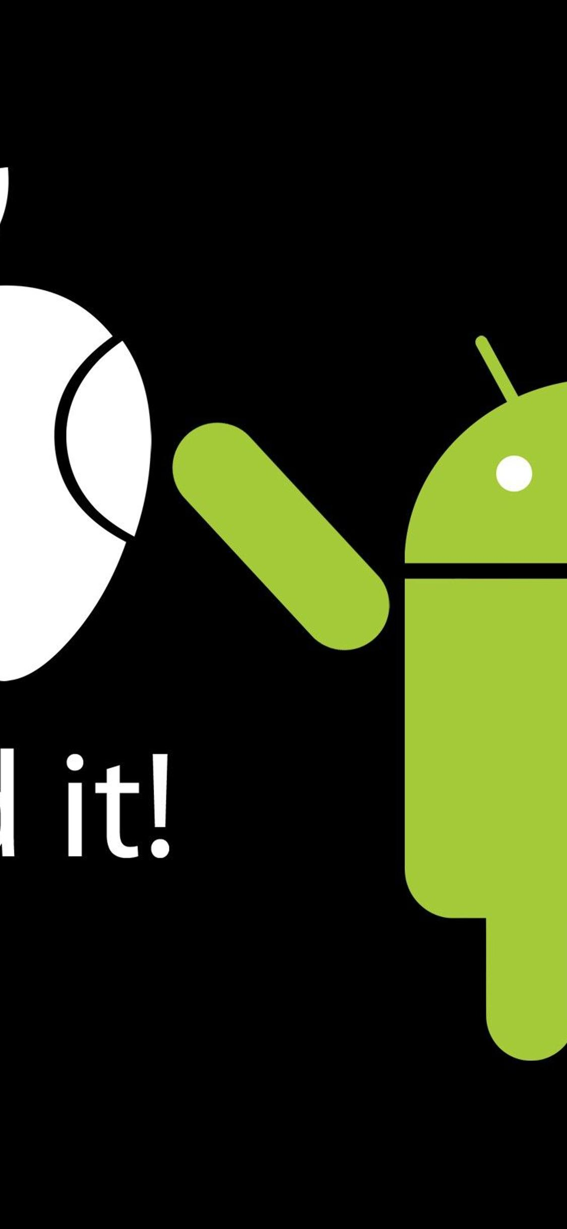 Apple Vs Android I Fixed It Funny Wallpaper