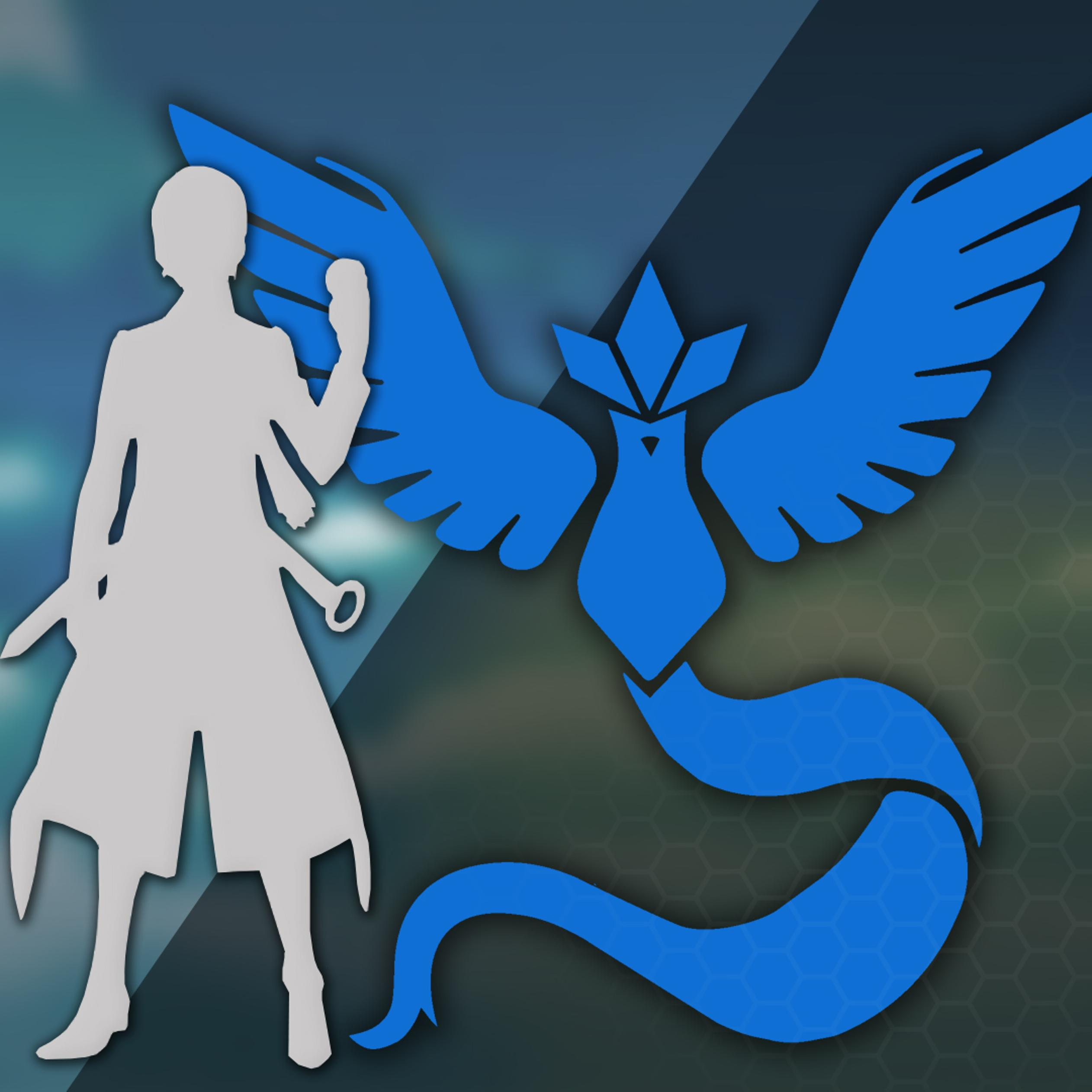 The Blue Team From Pokemon Go Game The Mystic