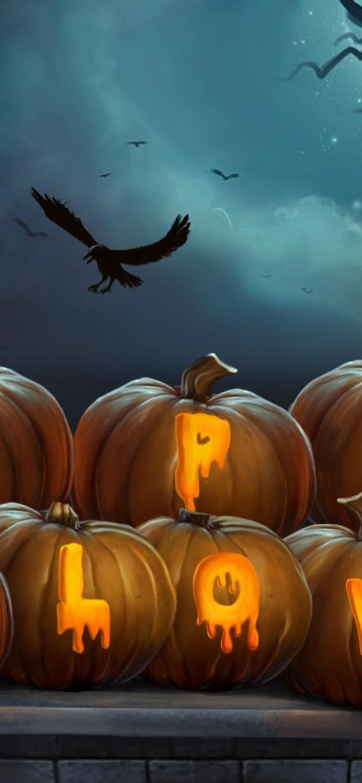 Happy Halloween Write On Pumpkins Hd Wallpaper