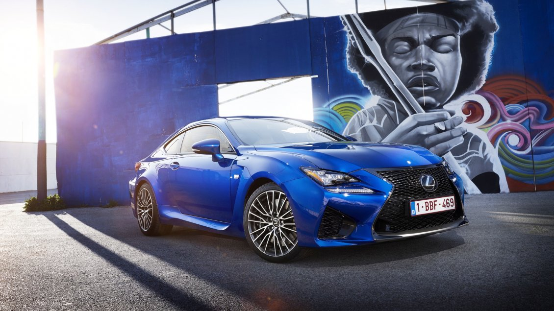 Download Wallpaper Urban Lexus RC F near a graffiti HD