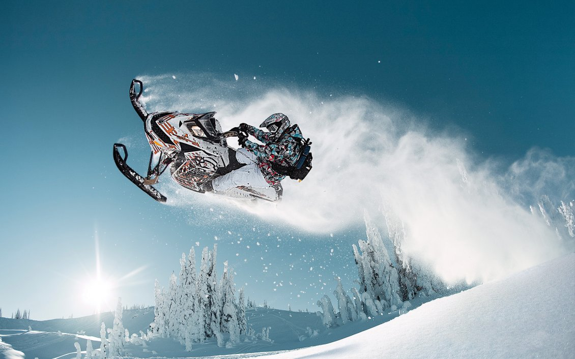 Jumping With A Snowmobile