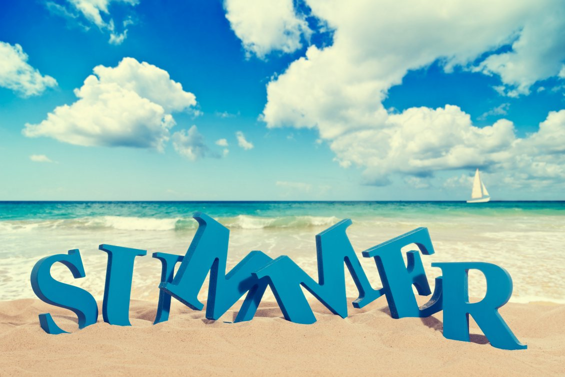 Download Wallpaper Summer time - Sun, sea and beach