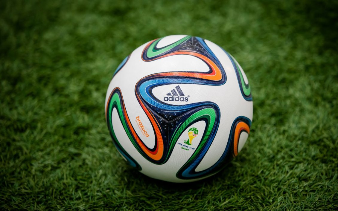 Download Wallpaper The Brazuca ball on the grass - Fifa World Cup