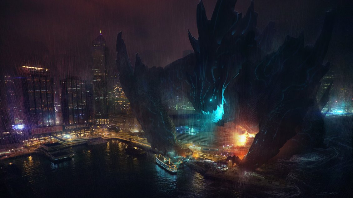 Giant Monster Destroying The Entire City