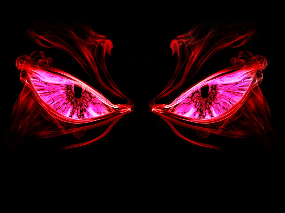 Two Scary Red Eyes In The Night