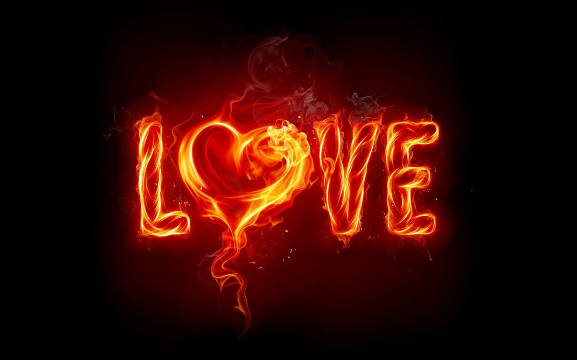 Download Wallpaper Love letters of fire - Burning love