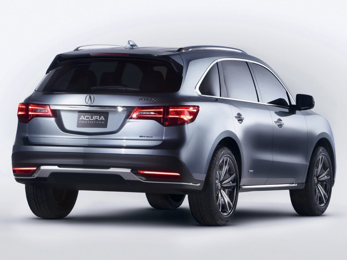Download Wallpaper Gray Acura MDX prototype car