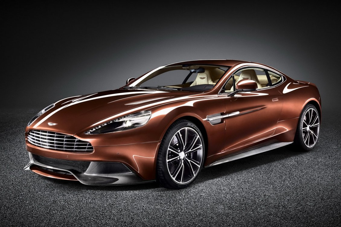 Download Wallpaper Aston Martin Vanquish - Awesome brown car