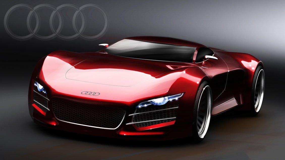 Sport Audi R10 Red Car Wallpaper