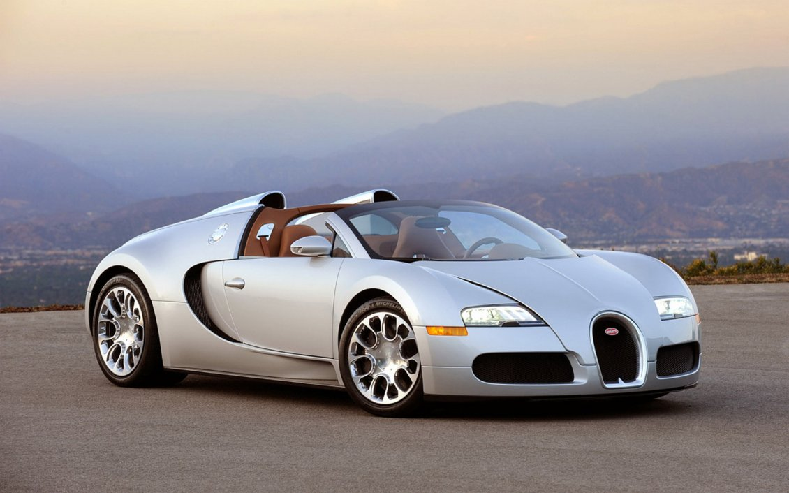Gray Bugatti Veyron Cars Wallpaper