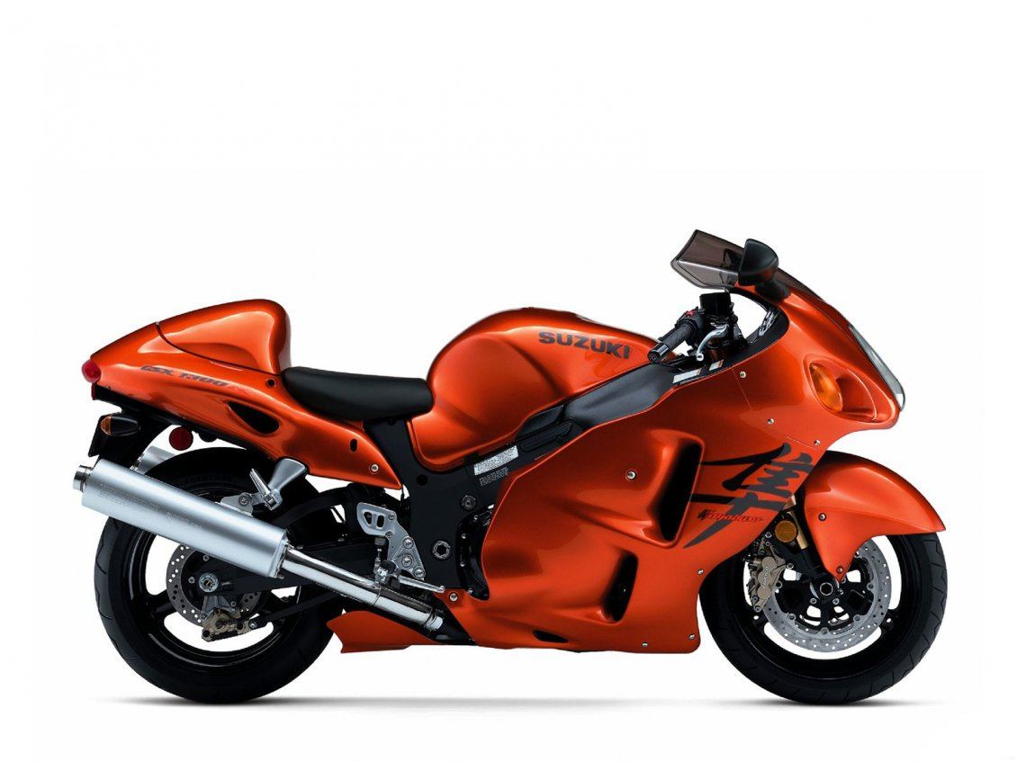 Download Wallpaper Orange Suzuki GSX 1300 R Hayabusa Motorcycle