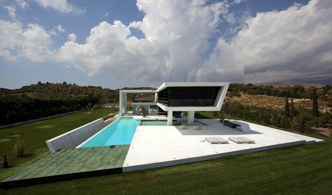 Best Greek House Amazing Architecture Wallpaper