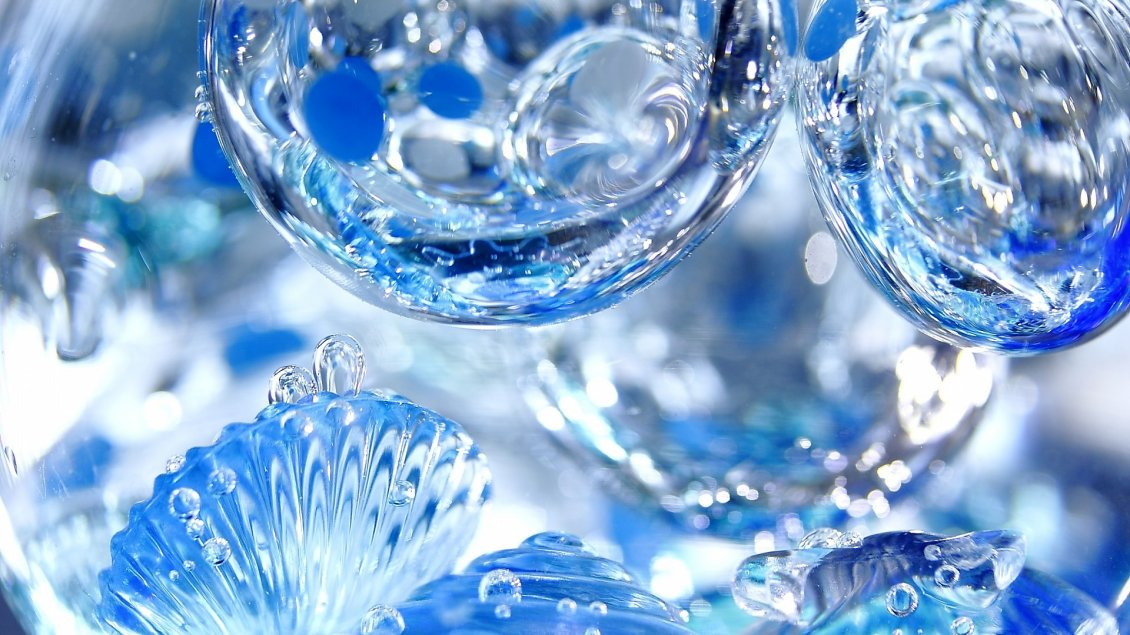 9948 3D blue water drops HD wallpaper