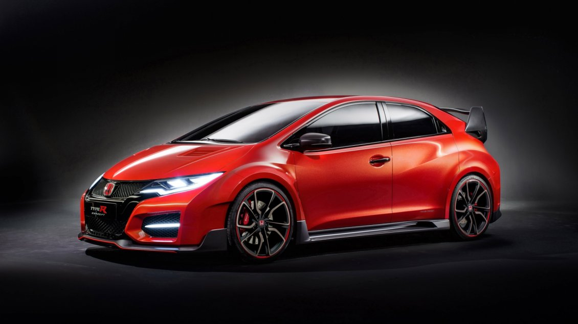 Download Wallpaper Red Honda Civic Type R Concept
