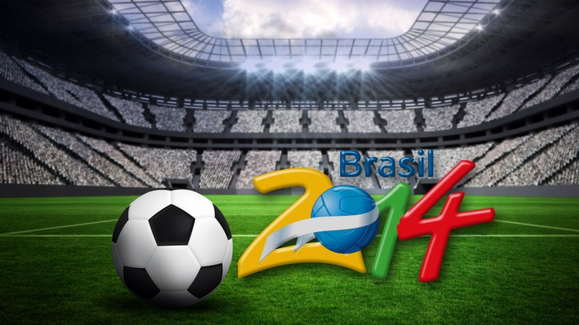 Download Wallpaper Brasil World Cup 2014 - Stadium and football wallpaper