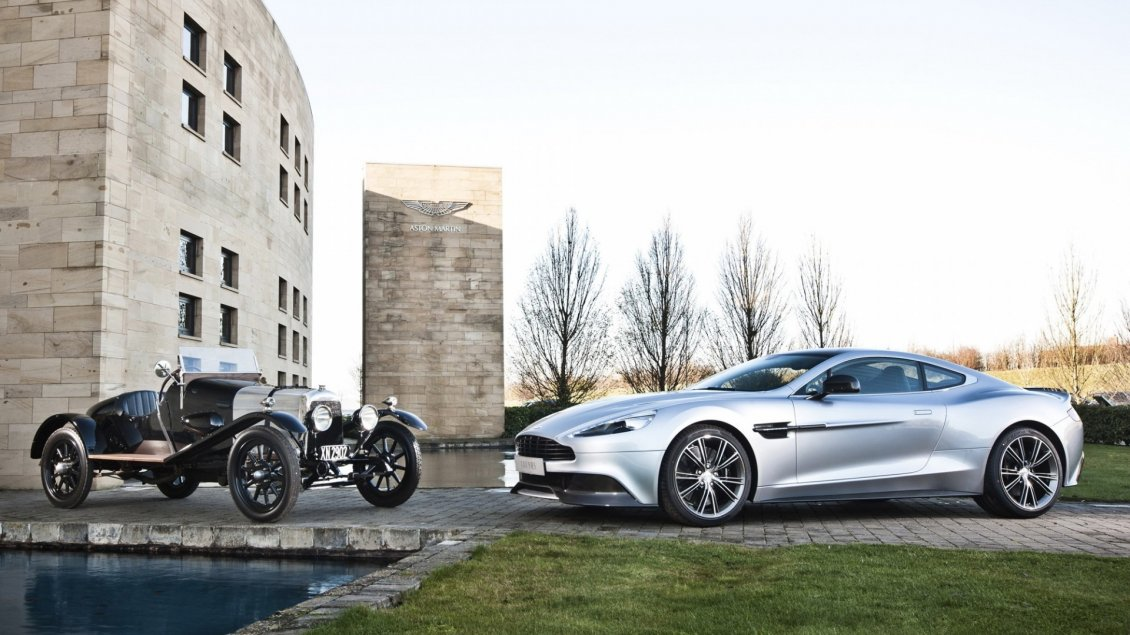 Download Wallpaper Old and new Aston Martin Vanquish