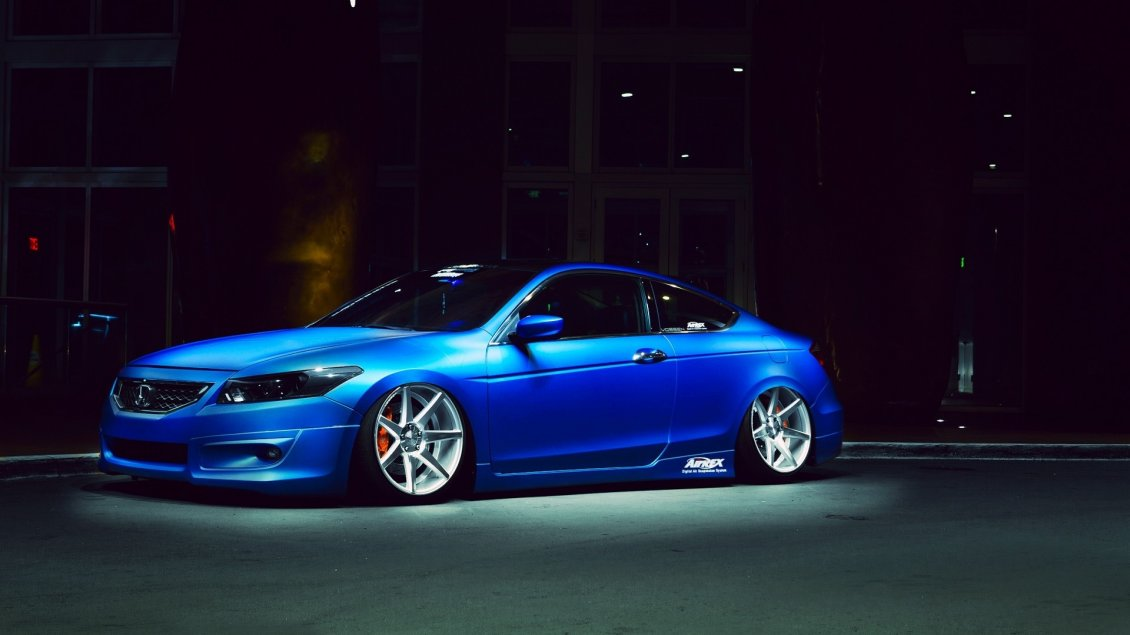 Download Wallpaper Blue Honda Accord AirRex - Sport car