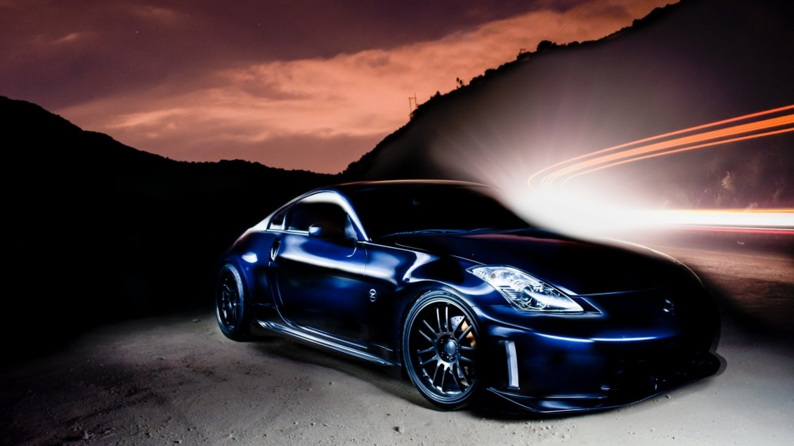Blue Nissan 350 Z Tuning Fantasy Wallpaper Wallpaper