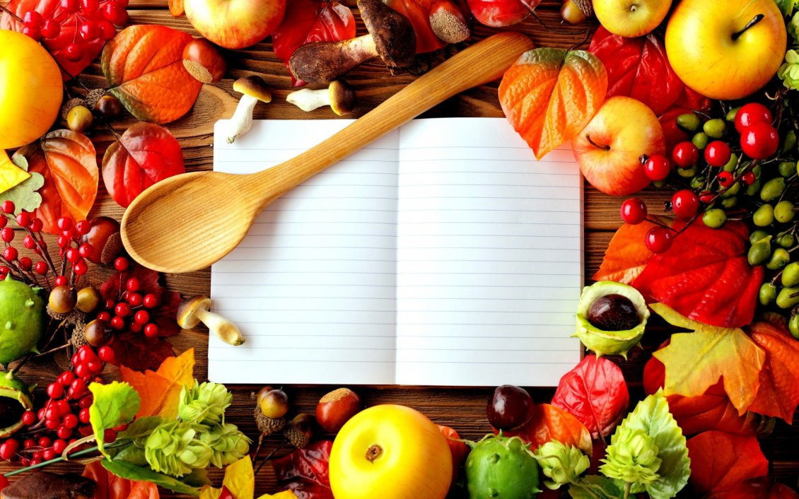 Your Secret Book With Food Recipes Wallpaper Download 320x240