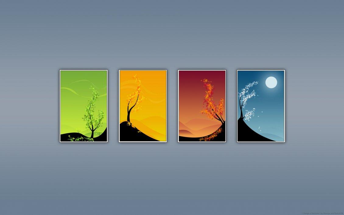 The Four Season In A Year Hd Wallpaper