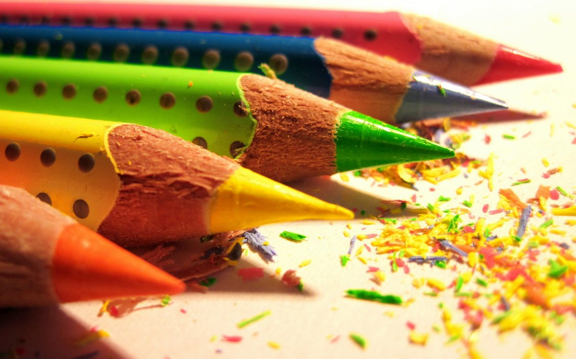 Download Wallpaper Coloured pencils - great painting