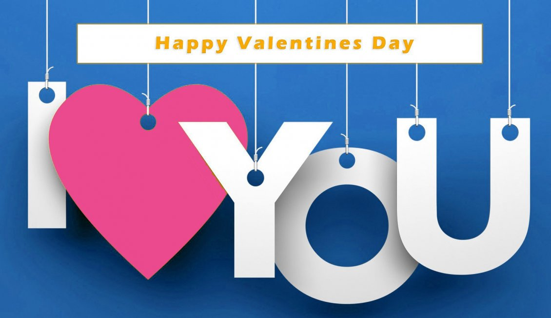 Download Wallpaper I love you - Happy Valentine's Day