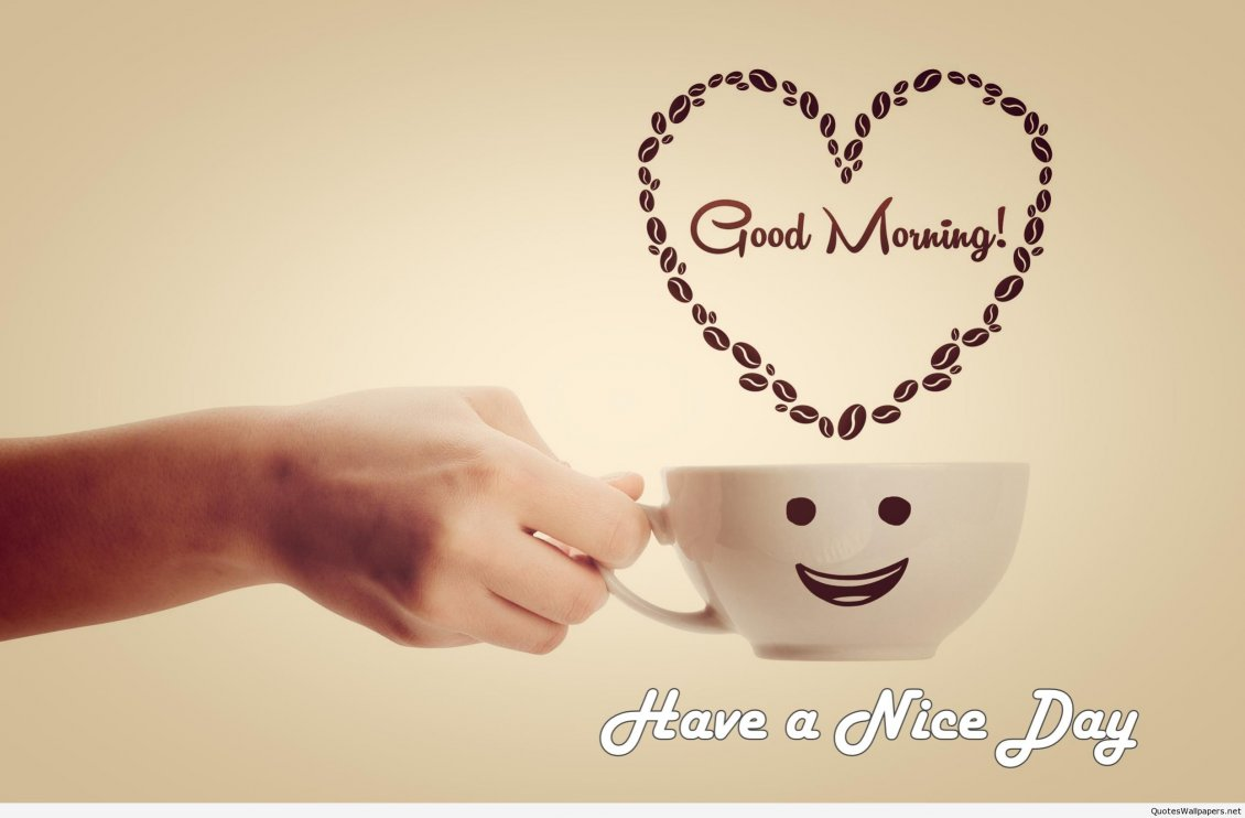 Happy Smiley Cup Of Coffee Good Morning