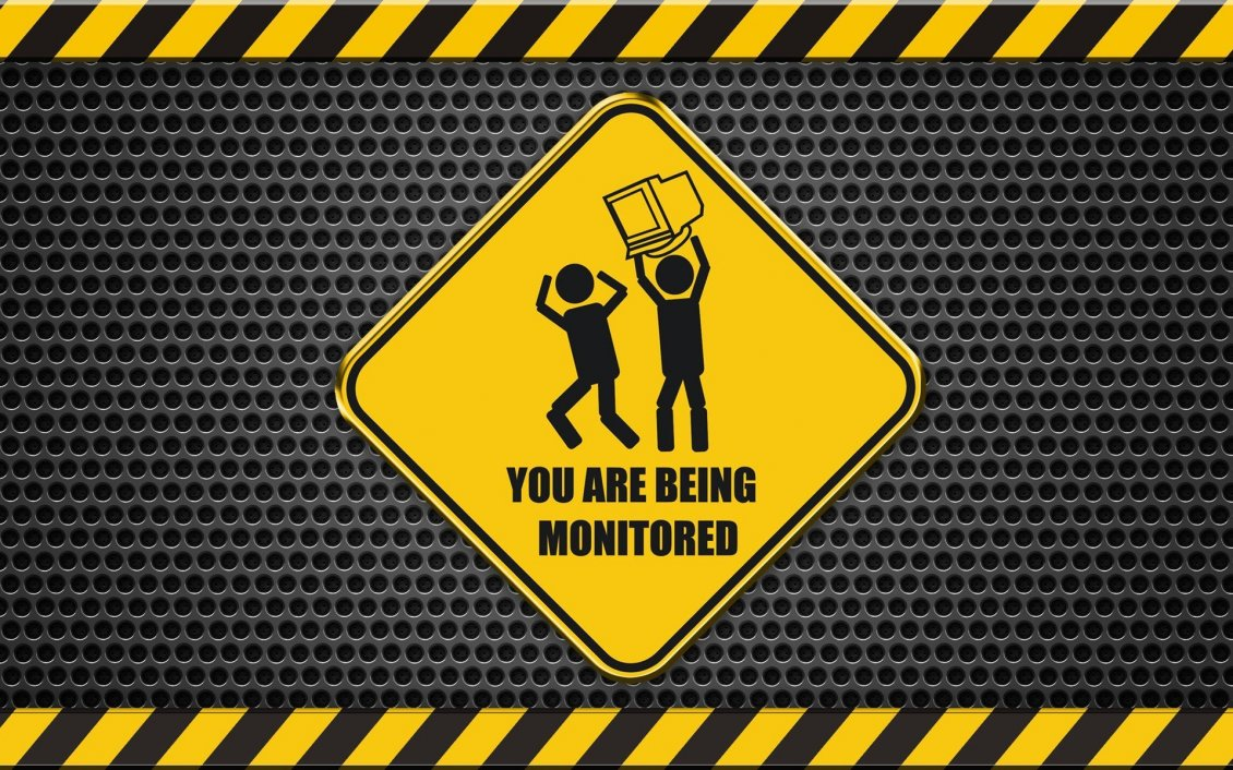 Download Wallpaper Funny wallpaper - You are being monitored