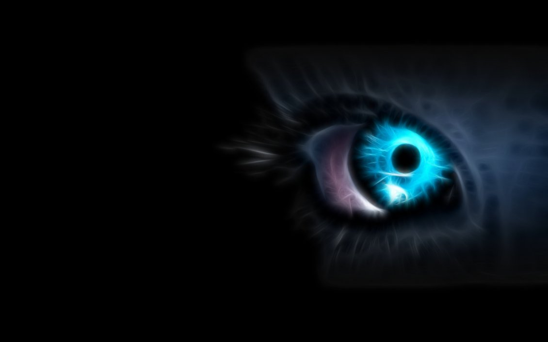 Wonderful Blue Cat Eye Hd Dark Wallpaper