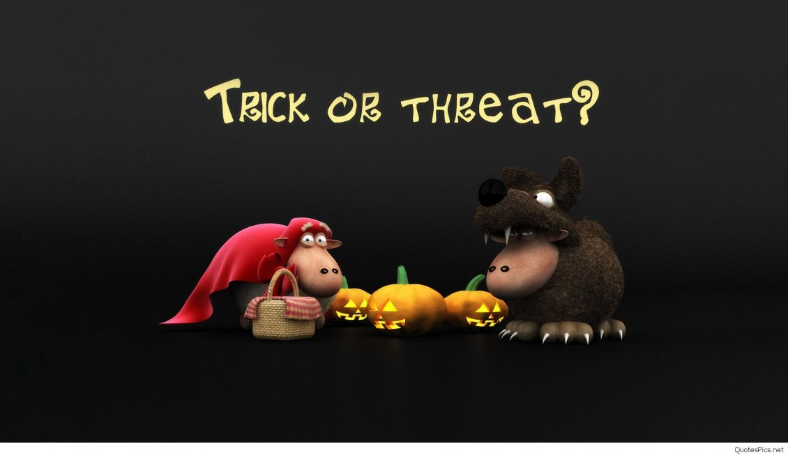 Download Wallpaper Funny costume for Halloween - Trick or Threat