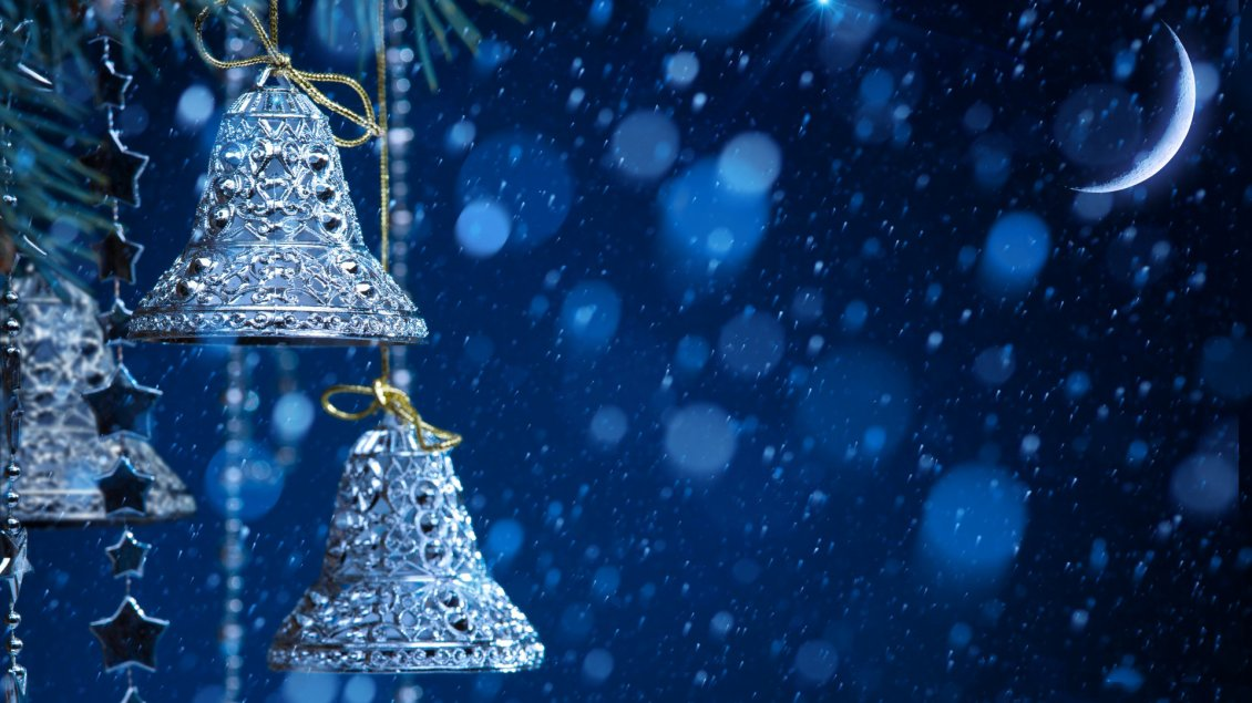 Download Wallpaper Blue Christmas night - Wonderful Winter Holiday