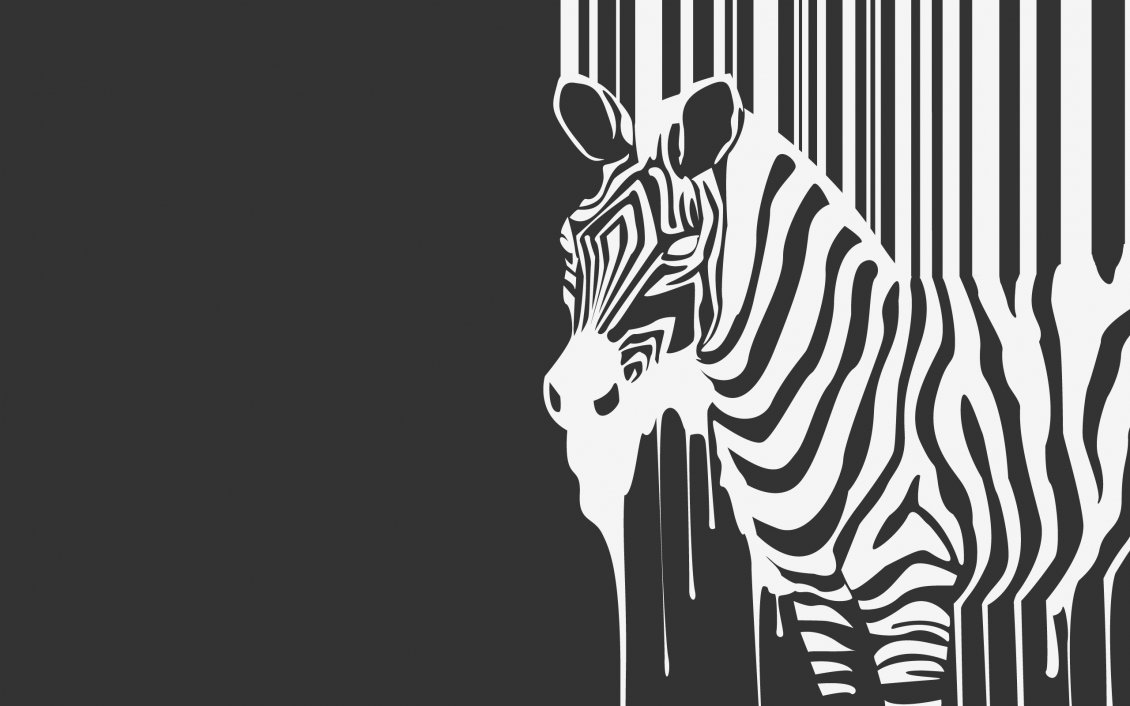 Download Wallpaper Wild zebra on the wall - Creative wallpaper