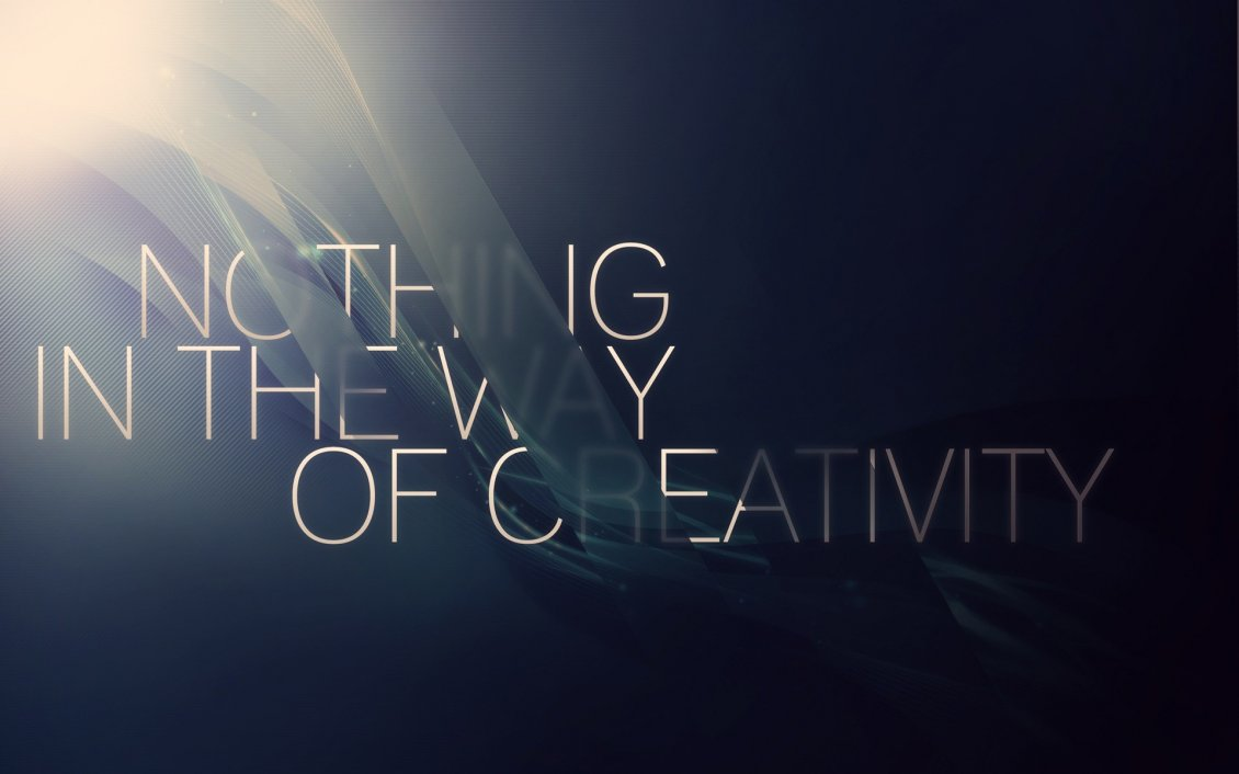 Download Wallpaper Nothing in the way of creativity - HD wallpaper