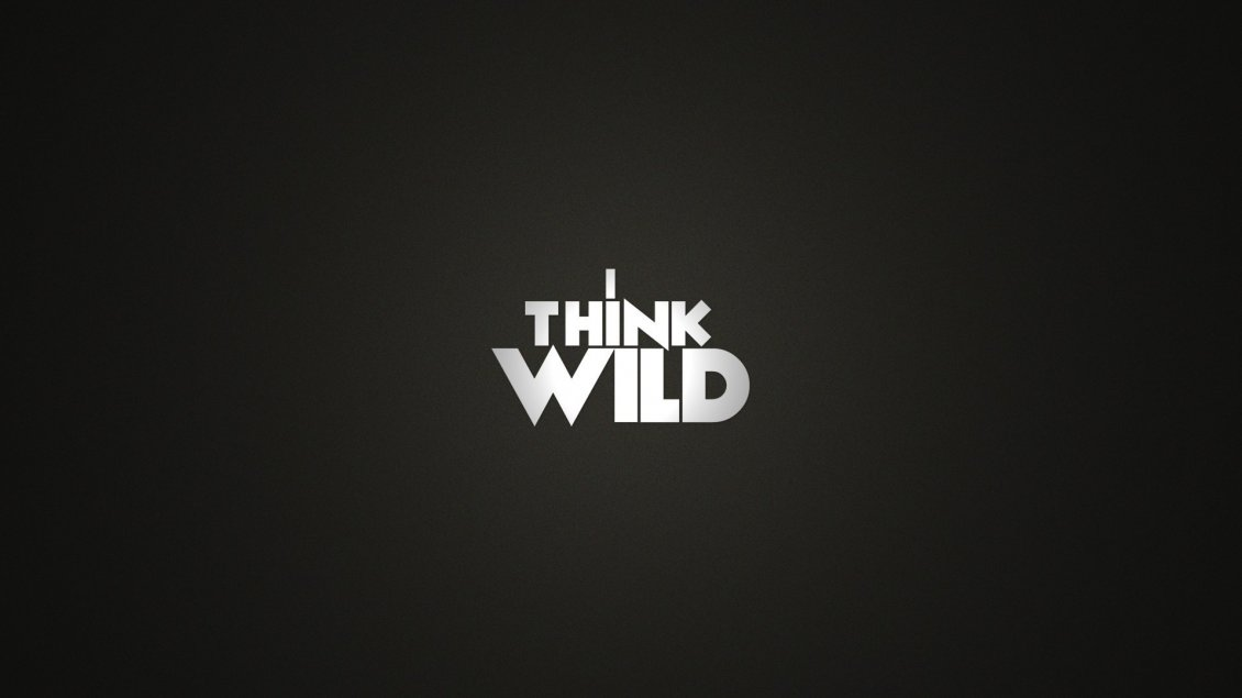 Download Wallpaper Simple and creative wallpaper - I think wild