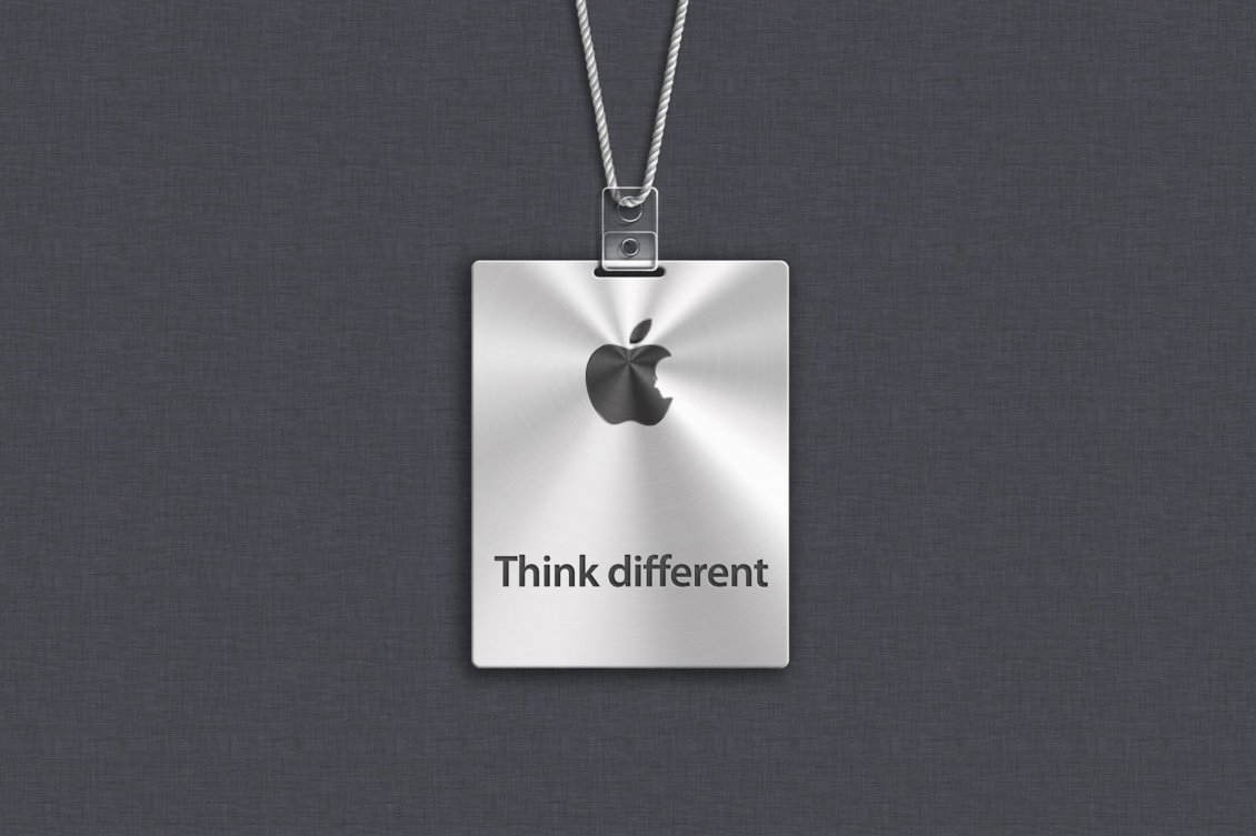 Apple Logo Think Different Hd Wallpaper