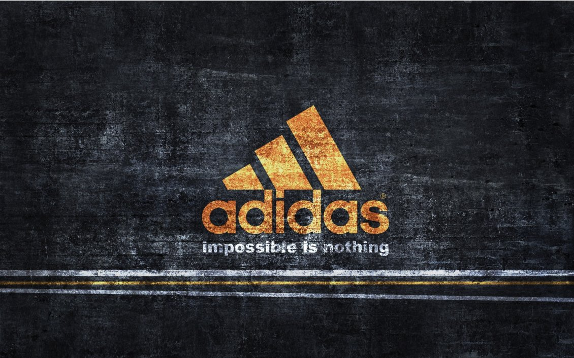 Download Wallpaper Adidas logo - Impossible is nothing