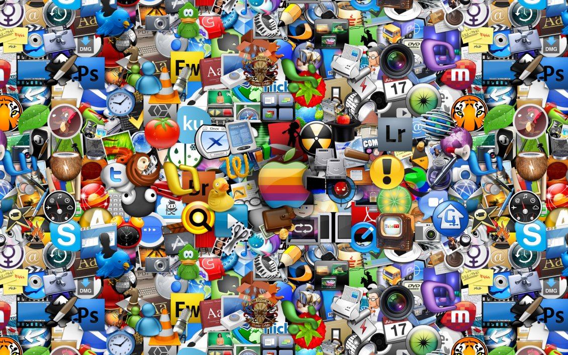 Download Wallpaper Millions of internet logos and brands - HD wallpaper
