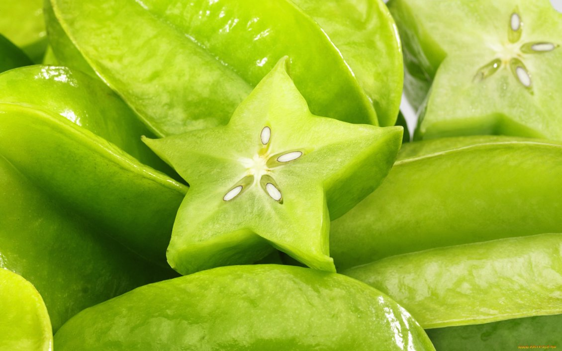 Download Wallpaper Macro green star fruits - HD wallpaper