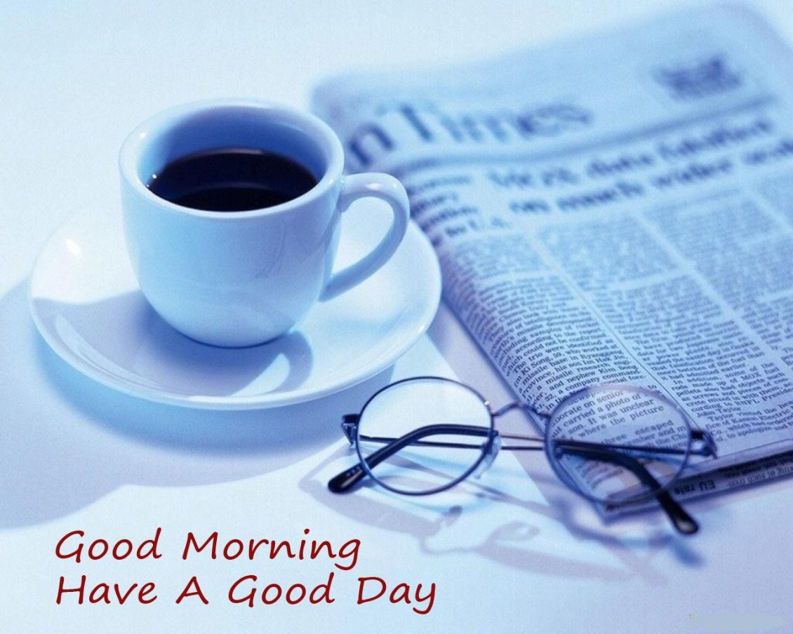 Download Wallpaper Good morning with a dark coffee and newspaper