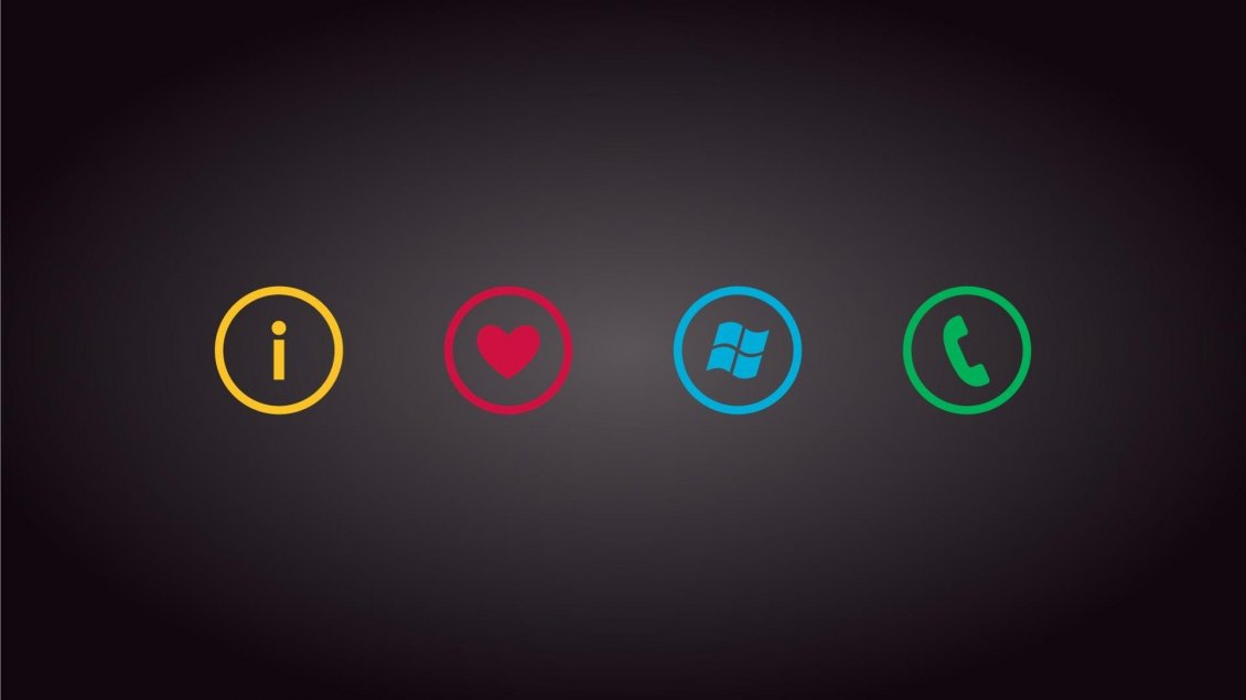 Download Wallpaper I love Windows and Phones - Funny signs on the wall